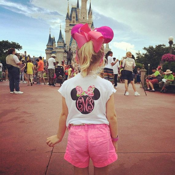 Hey, I found this really awesome Etsy listing at https://www.etsy.com/listing/221201083/womens-monogrammed-minnie-mouse-shirt