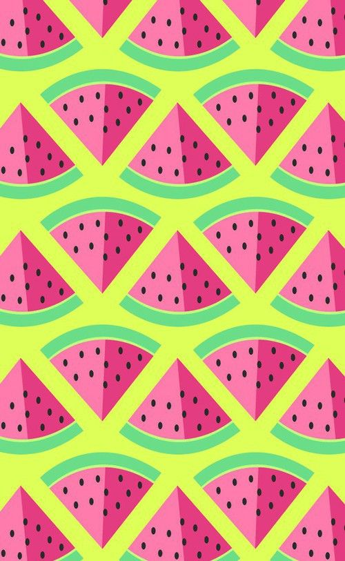 Watermelon Pattern #illustration #watermelon #summer
