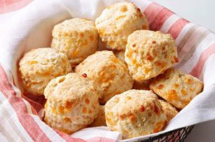 Cheesy PHILLY Biscuits Recipe - Your foolproof fluffy biscuit recipe, substitute any Kraft cheese shred you like!