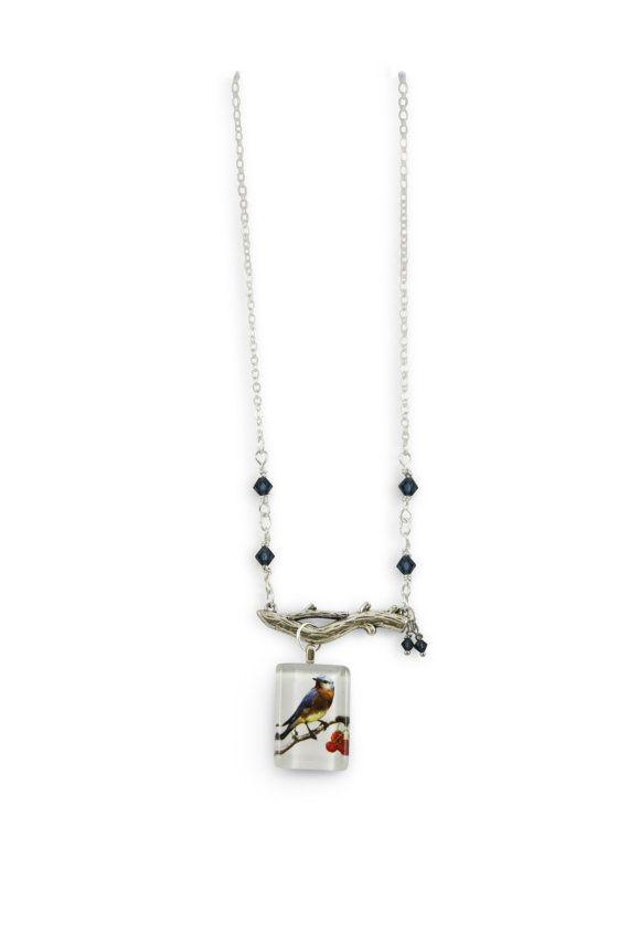 Bird necklace - chaffinch