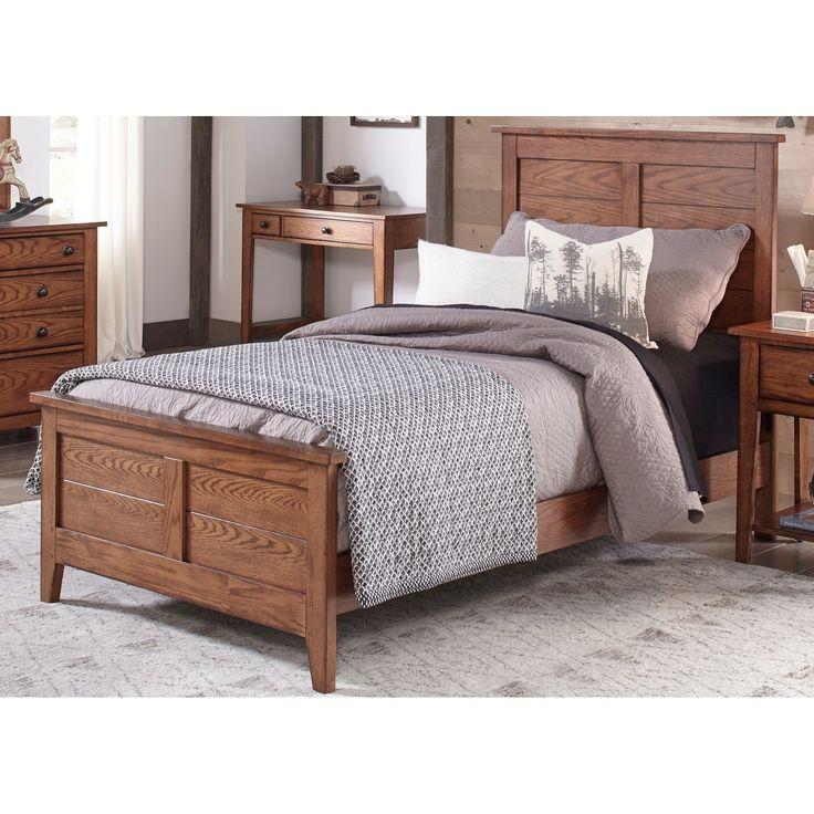 Liberty Grandpas Cabin Aged Oak Panel Bed (Twin), Brown