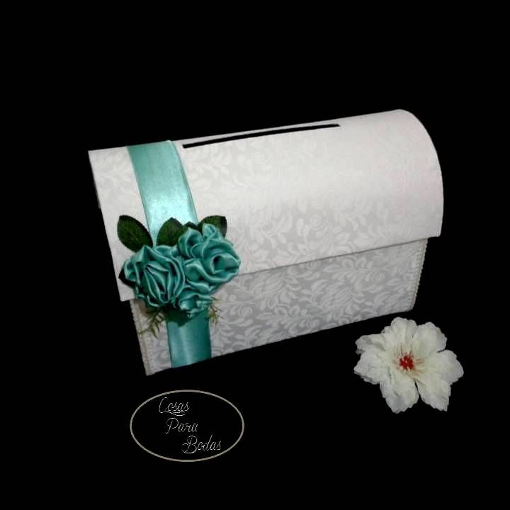 Ba 99 baul para sobres blanco tifany baules para bodas - Como decorar un baul de madera ...