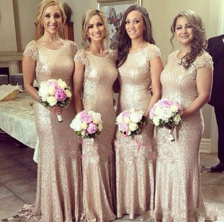 Short Sleeve Prom Dress,Sequins Prom Dress,Sheath Prom Dress,Fashion Bridesmaid Dress,Sexy Party Dress, New Style Evening Dress