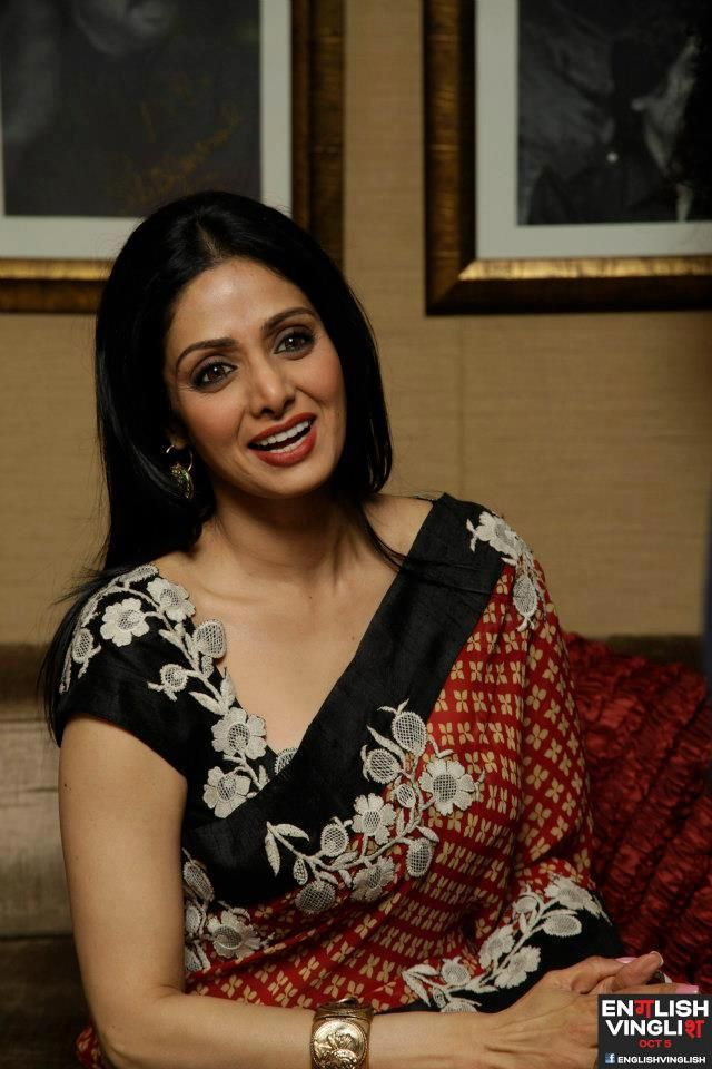 Sridevi in Anamika for the blue saree from asiana Delhi