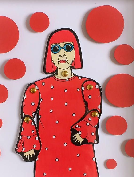 Framed Yayoi Kusama paper doll! These beautiful little dolls are hand illustrated by myself, hand cut and pinned using mini gold brad pins then framed.  The frames come in a lovely little package that can be personalized all you have to do is message me with who the gift is TO: and FROM: and I can pop that on ready for gifting.  All dolls are roughly 20-25cm tall and are professionally printed on sturdy 300gsm matt card before being hand cut and pinned. All framed doll sets come in a little…