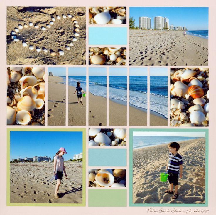 Beach Day Scrapbook Layout