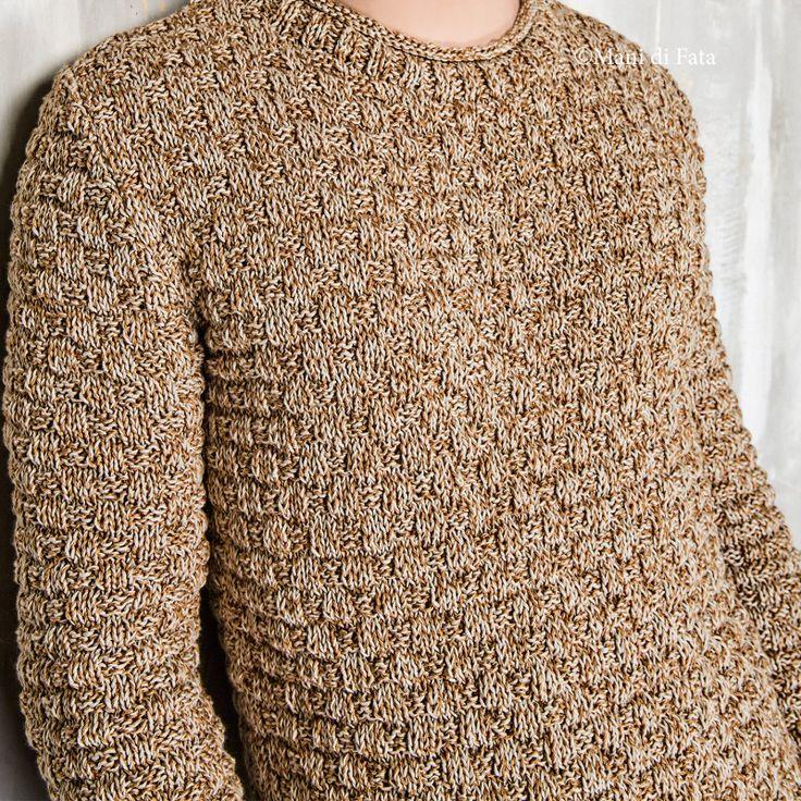 occorrente per fare a maglia il maglione da uomo