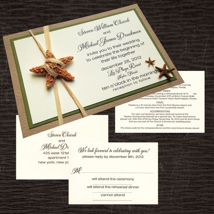 Custom wedding invitations and event invitations for