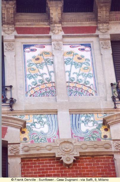 Photography by Frank Derville: Sunflower, Art Nouveauart, Nouveauart Deco