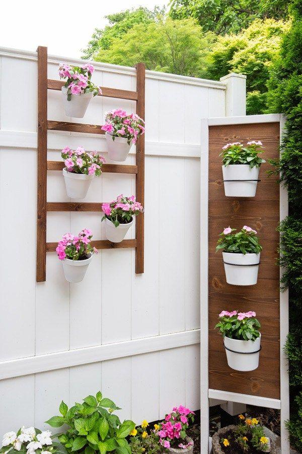 DIY Wall Planter Ladder Diy planters outdoor, Diy wall