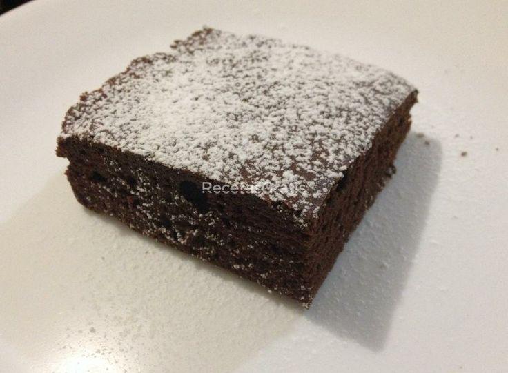 Receta de Brownie casero