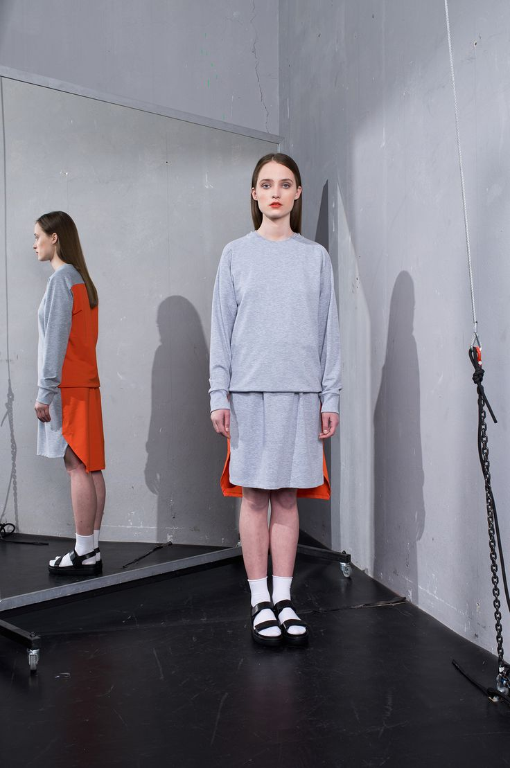 MEI KAWA   Colour Block Jersey Dress