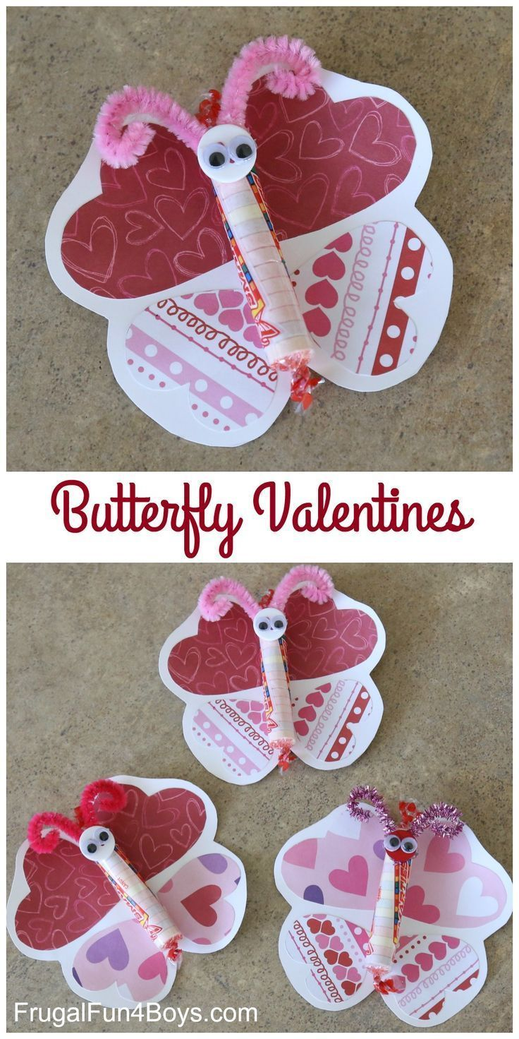 Adorable Butterfly Valentines to Make | Valentines Day | Diy