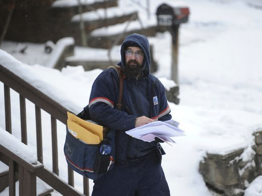United States Postal Service carrier Nate McKeever