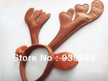 transporte livre !! decoração do partido Novo fornece chapéu aro Antler da rena do Natal de Santa Hat
