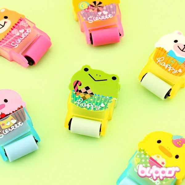 Chubby Pet in a Cup Roll Eraser