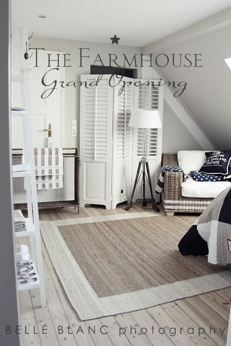 BELLE BLANC: The Farmhouse. Wide plank floors