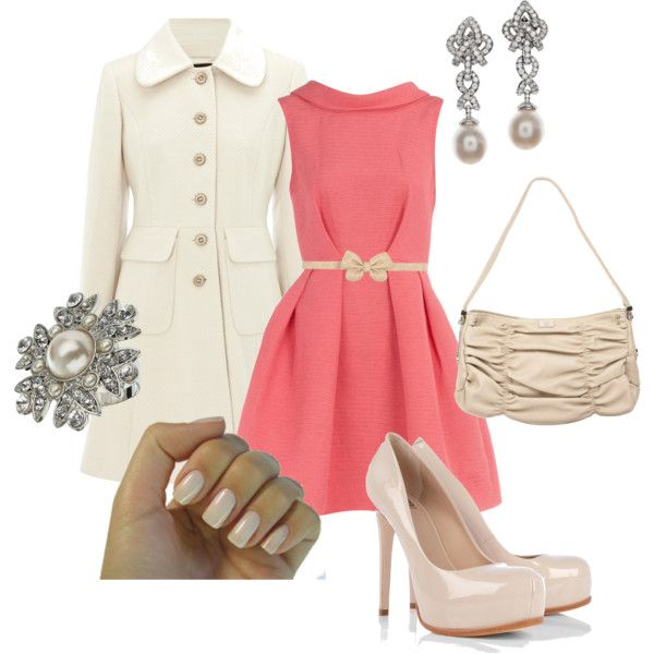 Pretty in Pink...and Pearl!, created by jennybrowning on Polyvore