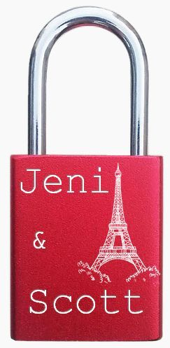Paris lovelocks, padlocks. http://foreverlovelocks.com/