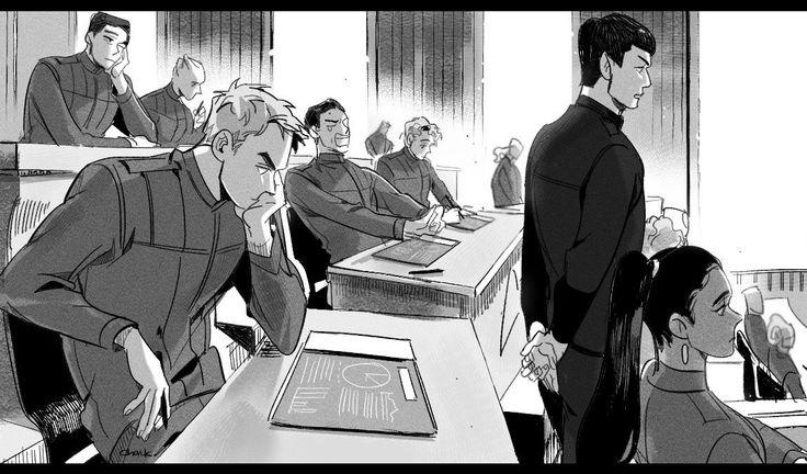 James T. Kirk, Spock, Nyota Uhura, Leonard H. McCoy, Hikaru Sulu, Pavel Chekov || Star trek AOS