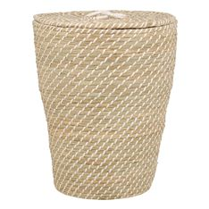 laundry basket seagrass with lid