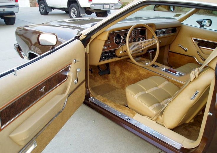 1974 ford mustang ii ghia ours was exactly like this 2 dr beige interior added orange dingle. Black Bedroom Furniture Sets. Home Design Ideas