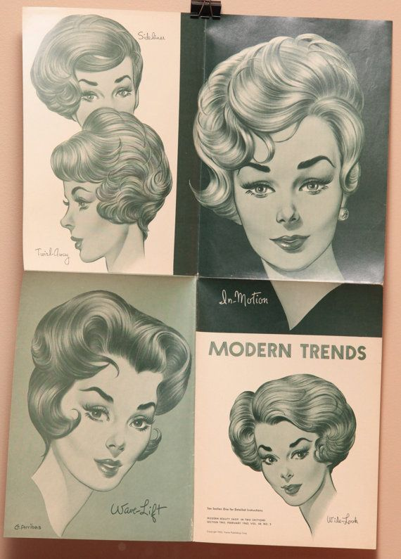Vintage Hair Salon Poster 16x22 1960s by OldBookSmell on Etsy