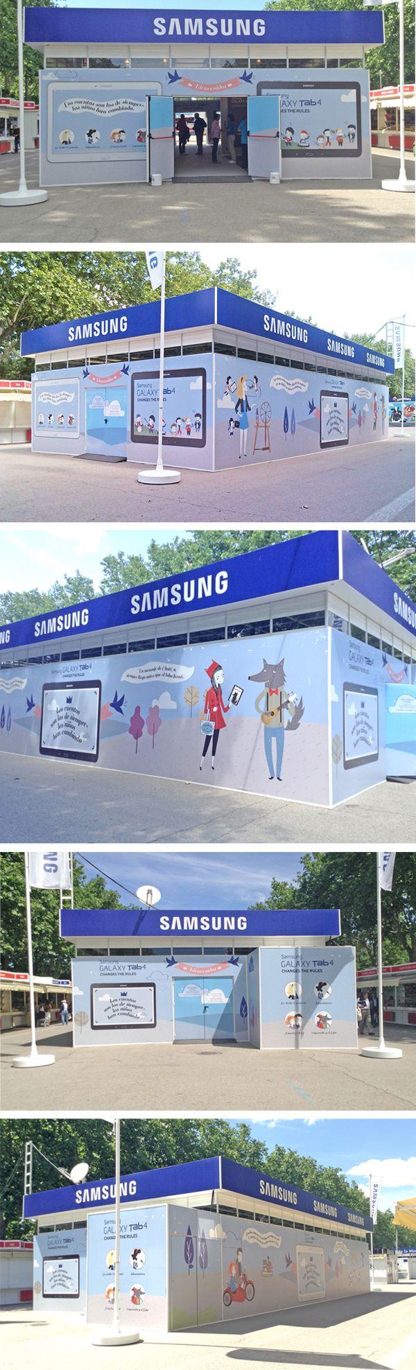 Ilustraciones de Nuria Díaz para el Stand de Samsung Feria de libro de Madrid 2014