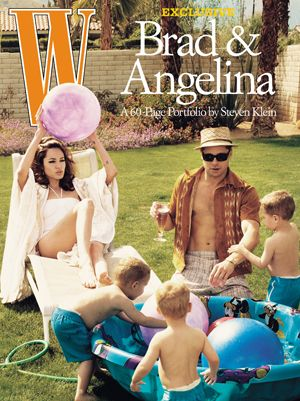 Brad Pitt Photographs Angelina Jolie and the Kids for W Magazine (2008)