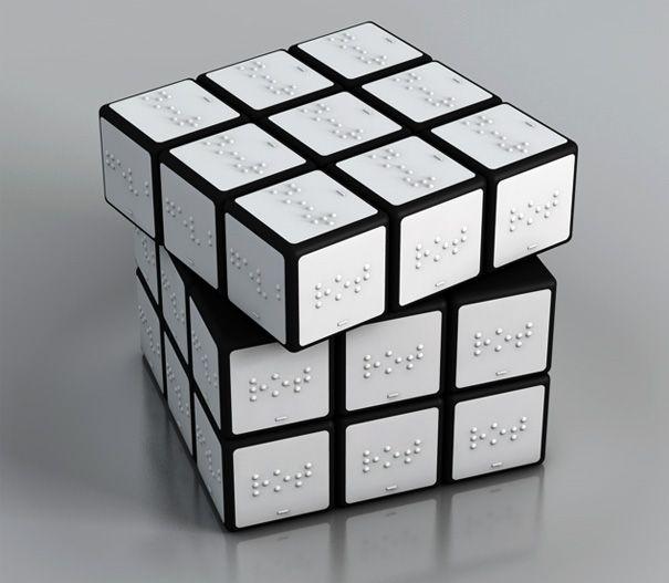 Braille Rubrik Cube for BlindBlinds People, Braille Rubik, Braille Rubrik, Rubix Cube, Rubik Cubes, Konstantin Datz, Rubrik Cubes, Products, Design