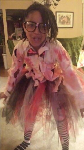 Zombie nerd Halloween costume
