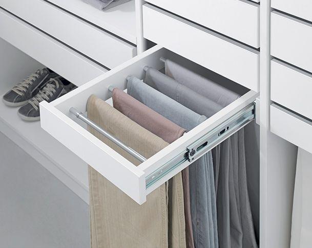 Ideias para fazer o armário - Espaço separado para as calças