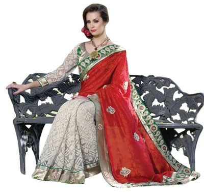 Heavy Embroidered Wedding Saree Sarees on Shimply.com