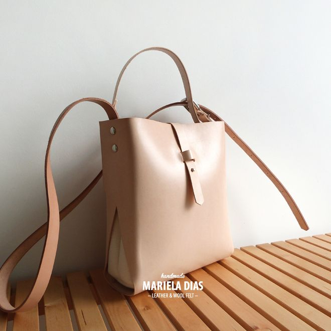 tangerine [M] bag · leather & wool felt http://marieladias.tictail.com