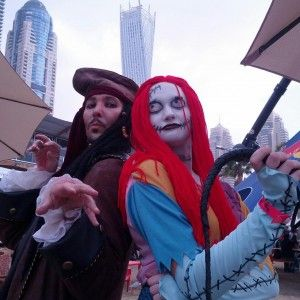 Jack Sparrow's cosplay in Dubai, at the Comi Con