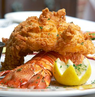 Southern fried Lobster..this could only be good.