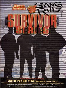 "Survivor Series (1997) was the eleventh annual Survivor Series pay-per-view professional wrestling event produced by the World Wrestling Federation. It was the third consecutive Survivor Series presented by Milton Bradley's Karate Fighters, and took place on November 9, 1997, at the Molson Centre in Montreal, Quebec, Canada. The tagline ""Gang Rulz"" refers to the various wrestling stables that feuded with each other coming to this event."