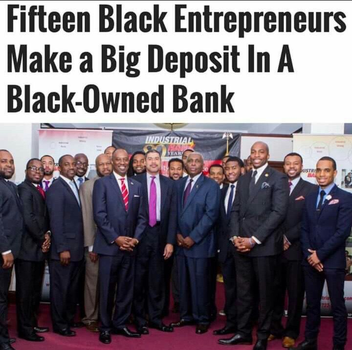Fifteen Black Entrelreneurs Make a Big Deposit in a Black-Owned Bank