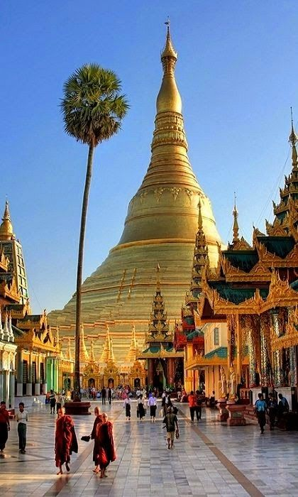 The Shwedagon Pagoda officially titled Shwedagon Zedi Daw also known in English as the Great Dagon Pagoda and the Golden Pagoda,