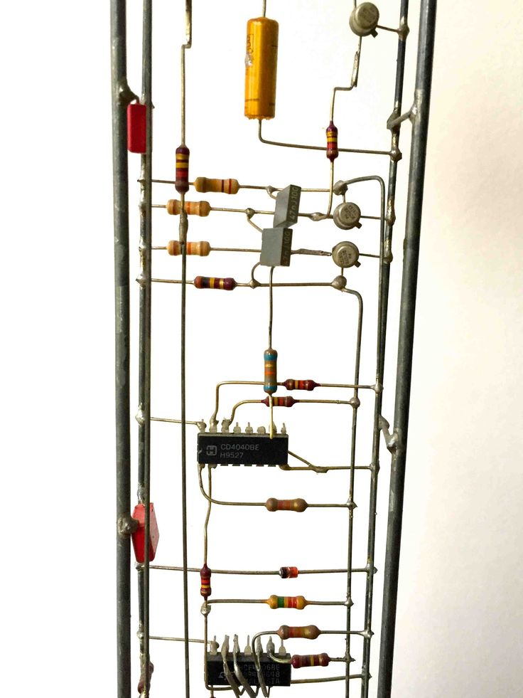 Peter Vogel. Tonfolgen.  1999.  Mixed Media.  40 cm high. // he objects demonstrate a breakdown of boundaries across practices within fine art and performance traditions and question established relationships between sculpture and sound, seeing and hearing, the static and the live, as well as challenging the place of sound within the historiography of gallery spaces.