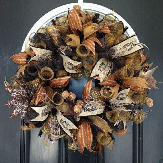 Deluxe Fall Wreath, Fall Door Hanger, Front Door Wreath on Etsy, $74.99