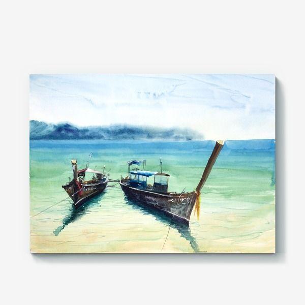 Холст «Вьетнамские лодки»