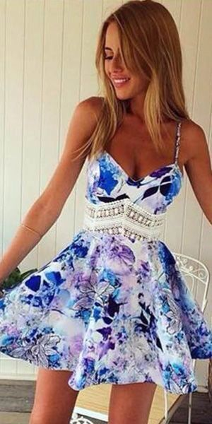 Blue flower dress❤️