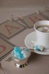Make your own Pretty Blue Sugar Cubes