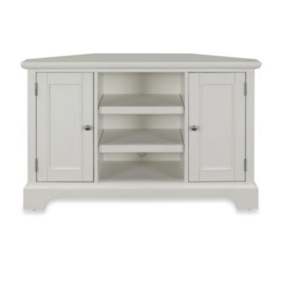 Home Styles Naples Corner TV Stand in White - BedBathandBeyond.com