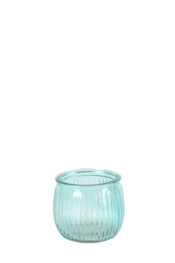 Glass Ribbed Tealight Holder