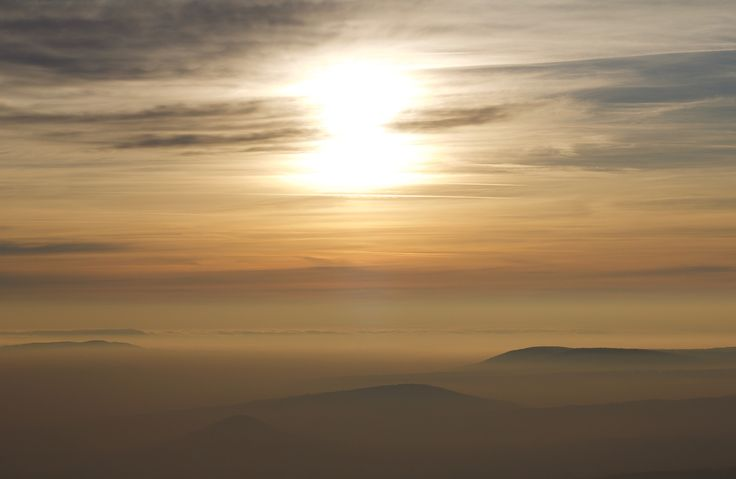Soft Sunset - Winter sunsets are special. When the fog covers all the hills below you can feel you are in heaven, or at least over the clouds in a different place.