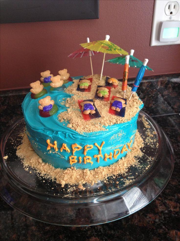 Beach Themed Wedding Cake - CakeCentral.com |Beach Themed Birthday Cakes