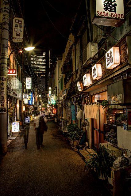 dreams-of-japan:    Shimbashi w/o rain by PGTO2308 on Flickr.