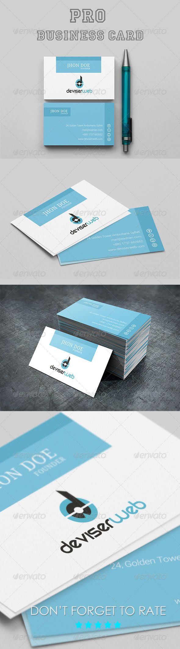 255 best Business Card Templates images on Pinterest   Fonts ...